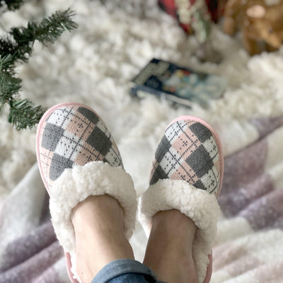 Slide On Slippers with Sherpa - My Leisure Lounge