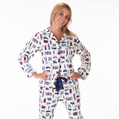 Ladies flannel pj sets - London - My Leisure Lounge
