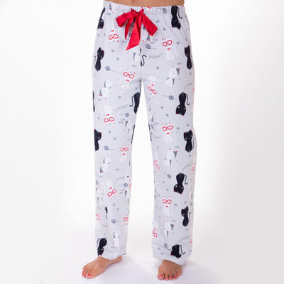 Ladies flannel Pants - Happy Cats - My Leisure Lounge
