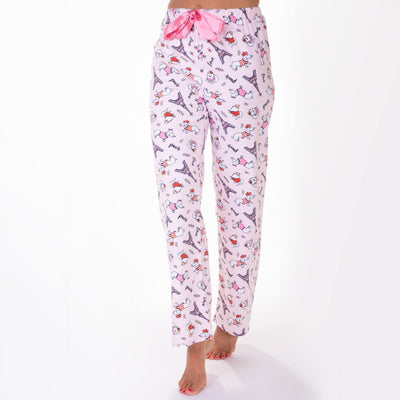 Ladies flannel Pants - Paris Dogs - My Leisure Lounge