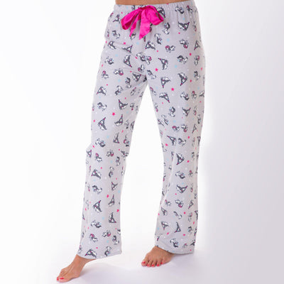 Ladies flannel Pants- Party Dogs - My Leisure Lounge