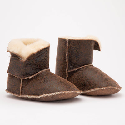 Baby High Top Sheepskin Booties - My Leisure Lounge