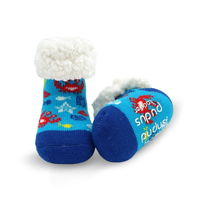 Toddler Slipper Socks with Crab Print - My Leisure Lounge
