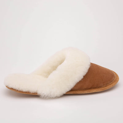 Ladies Slip On Sheepskin Slippers - My Leisure Lounge