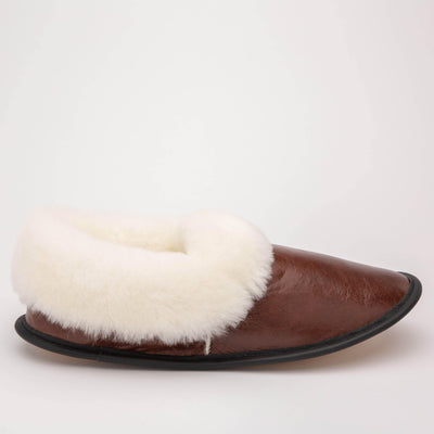 Mens Sheepskin Full Slippers - My Leisure Lounge