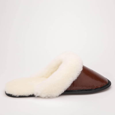 Mens Sheepskin Slip On Slippers - My Leisure Lounge