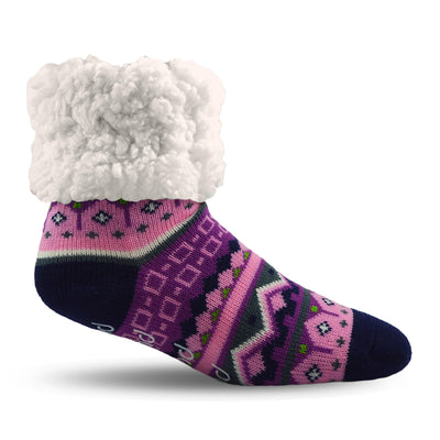 Classic Nordic Pink Slipper Socks - My Leisure Lounge