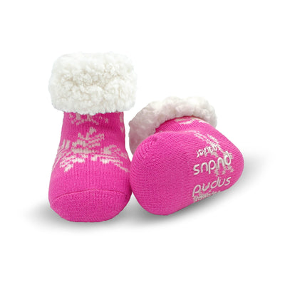 Toddler Slipper Socks with Snowflake Print - My Leisure Lounge