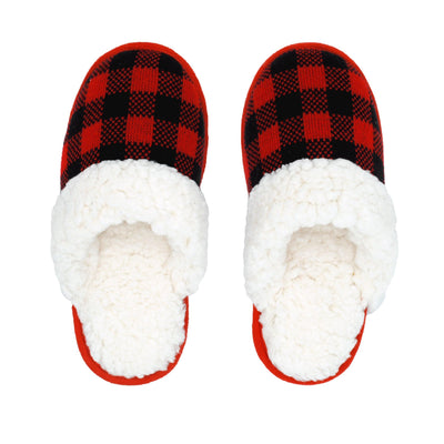Lumberjack Slide On Slippers with Sherpa - My Leisure Lounge