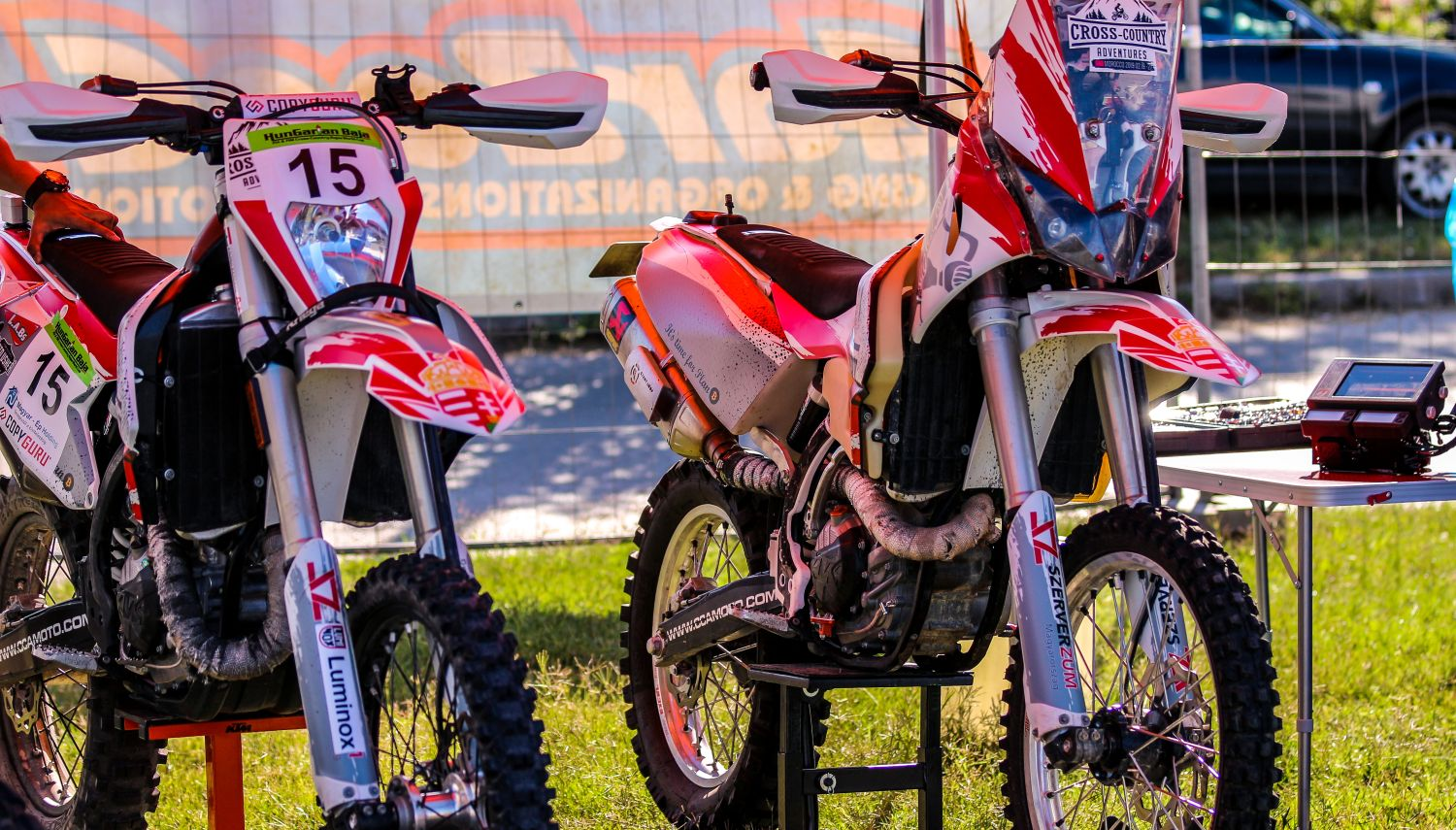 custom built KTM rally bikes