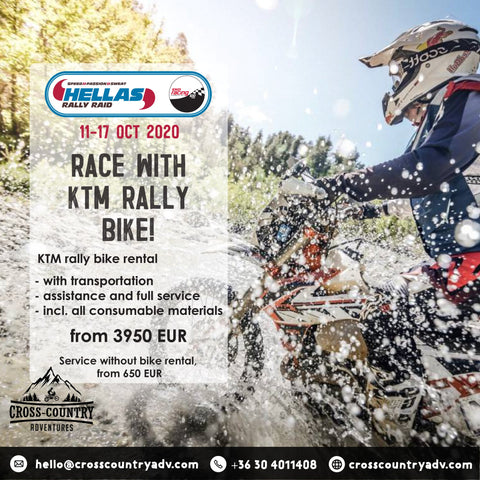 Hellas Rally bike rental and assistance