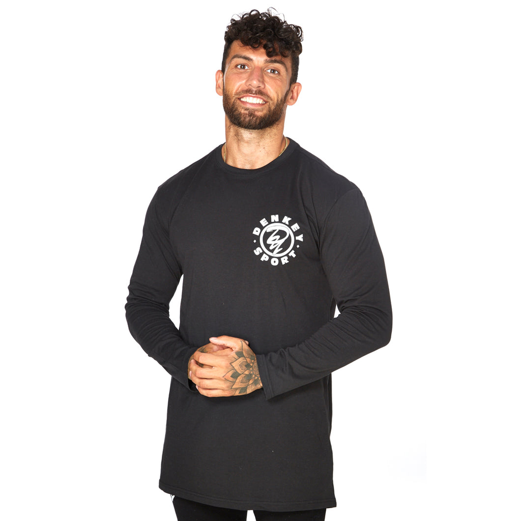Long Sleeved Longline Tee - BLACK 01