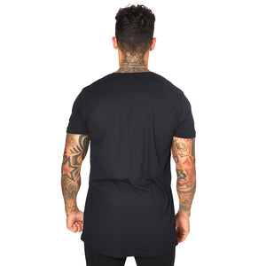 Shaped Long Tee - BLACK 03