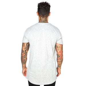 Shaped Long Tee - LIGHT GREY 04