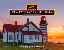 Load image into Gallery viewer, New England Lighthouse 2021 Calendar by Mahoney Publishing