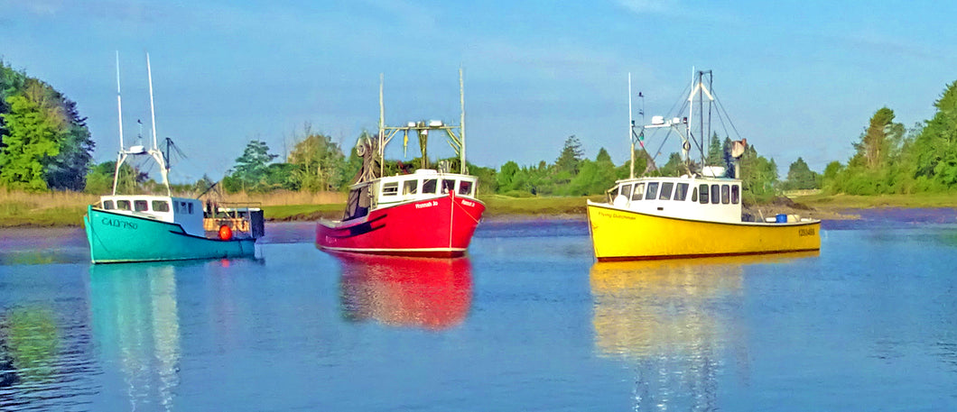 Three Lobster Boats Wall Decor