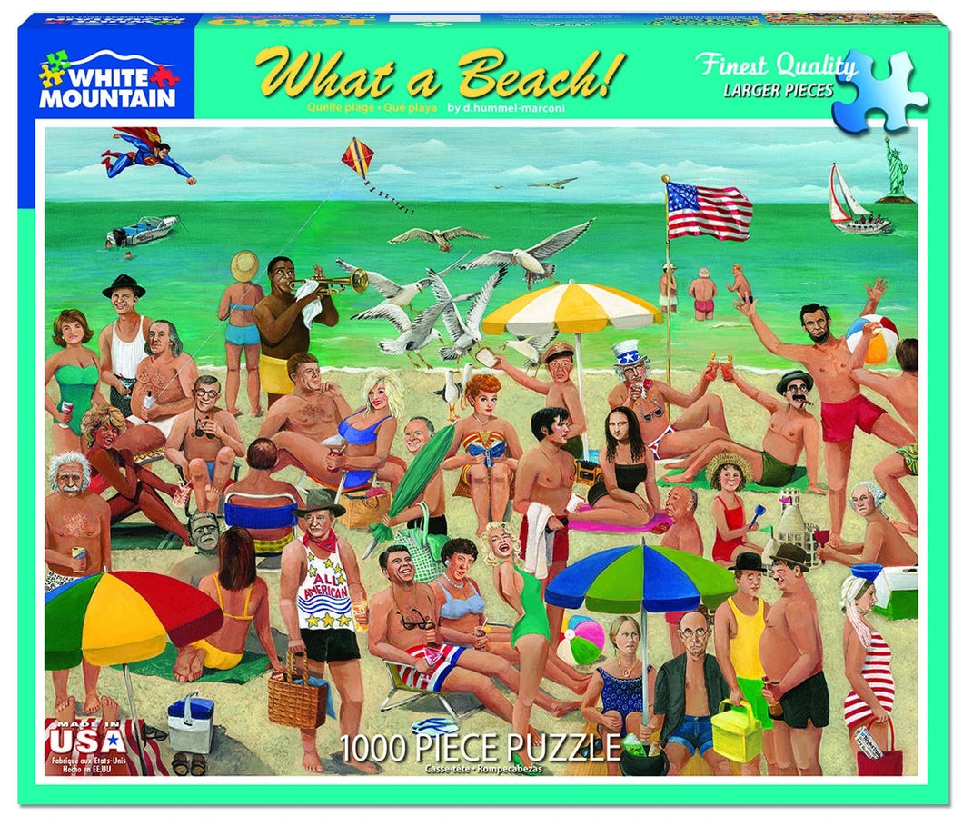 What a Beach 1000 pc puzzle by White Mountain