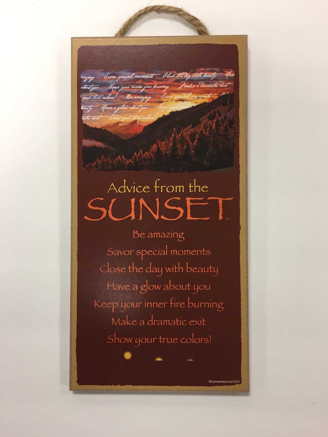 Advice from the Sunset Sign