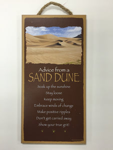 Advice from a Sand Dune Sign