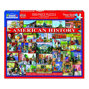 American History 1000 pc Puzzle by White Mountain