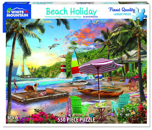 Beach Holiday 550 pc Puzzle by White Mountain