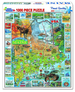 Best of Maine 1000 Piece Puzzle by White Mountain Puzzle Co