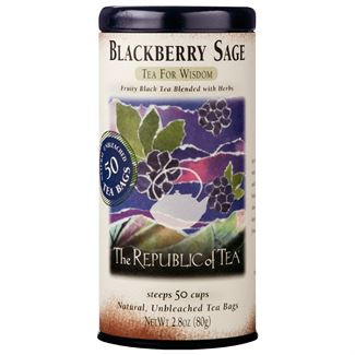 Blackberry Sage Black Tea Bags by the Republic of Tea