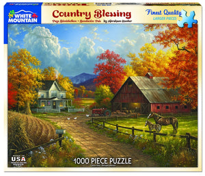 Country Blessings 1000 pc Puzzle by White Mountain