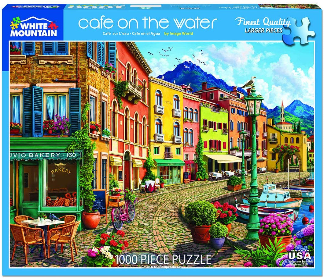 Cafe on the Water 1000 pc Puzzle by White Mountain