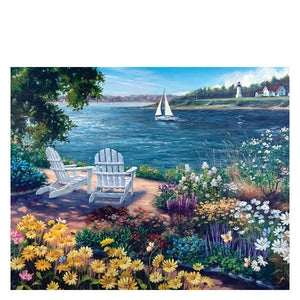 Garden by the Bay 1000 pc Puzzle by White Mountain Puzzle