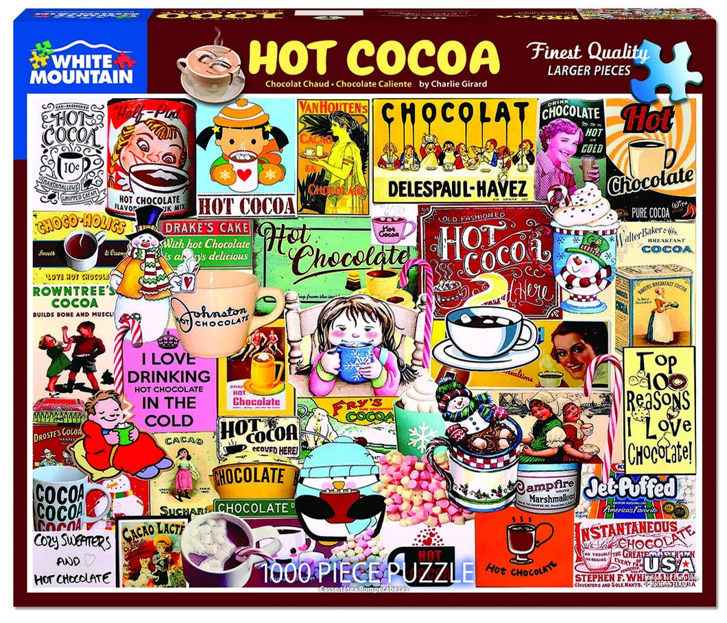 Hot Cocoa 1000 pc Puzzle by White Mountain