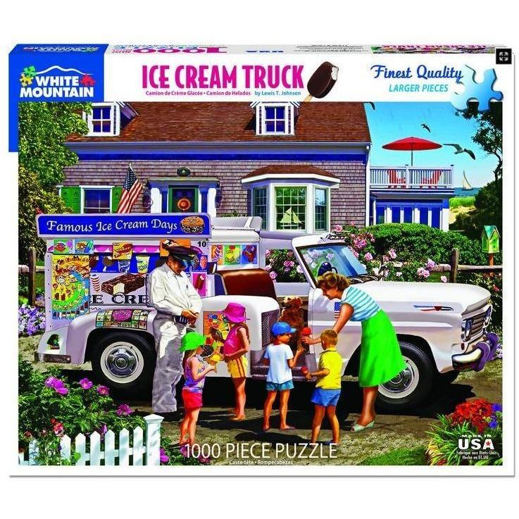Ice Cream Truck 1000 pc puzzle by White Mountain