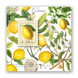 Lemon Basil Cocktail Napkins by Michel Design Works