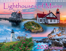 Load image into Gallery viewer, Lighthouses of Maine 2021 Calendar by Maine Scene
