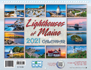 Lighthouses of Maine 2021 Calendar by Maine Scene