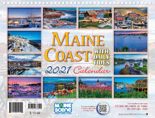 Load image into Gallery viewer, Maine Coast 2021 Calendar by Maine Scene