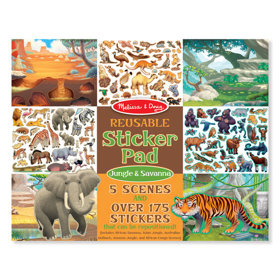 Melissa & Doug  Jungle & Savanna Reusable Sticker Pad