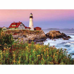 Maine Lighthouse 1000 pc Puzzle by White Mountain Puzzle Co