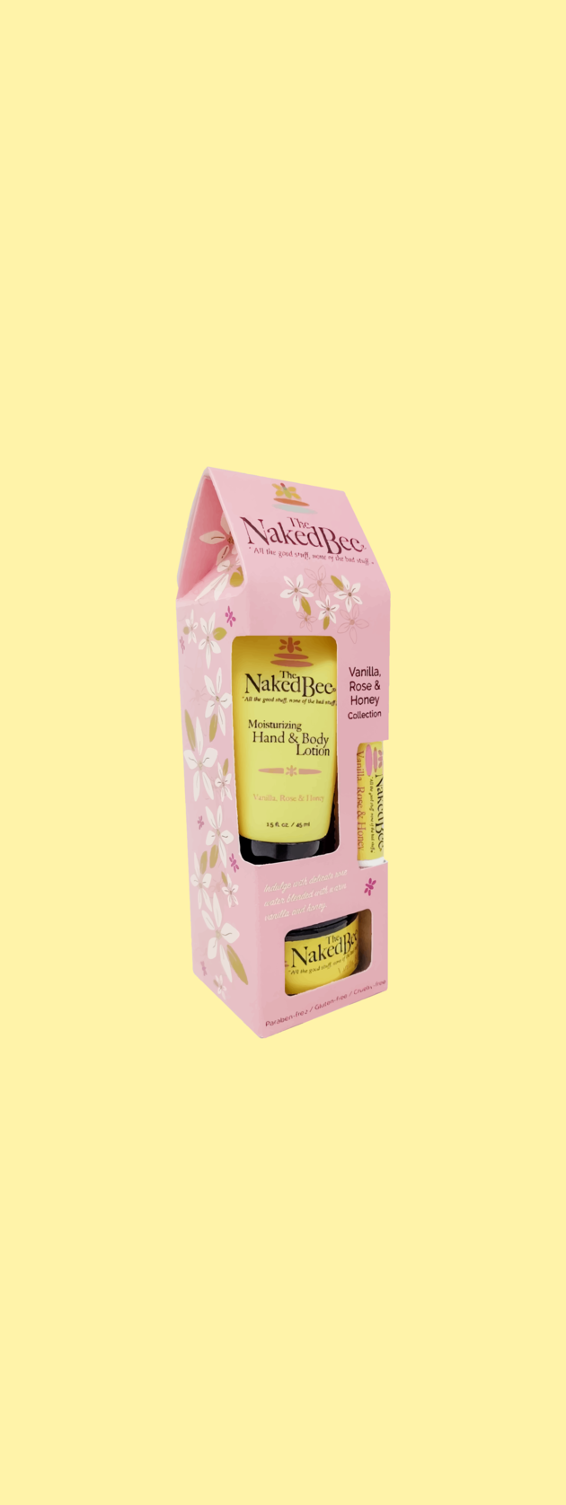 Naked Bee Vanilla Rose & Honey Gift Set