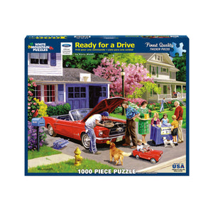 Ready for a Drive 1000 pc puzzle by White Mountain Puzzle