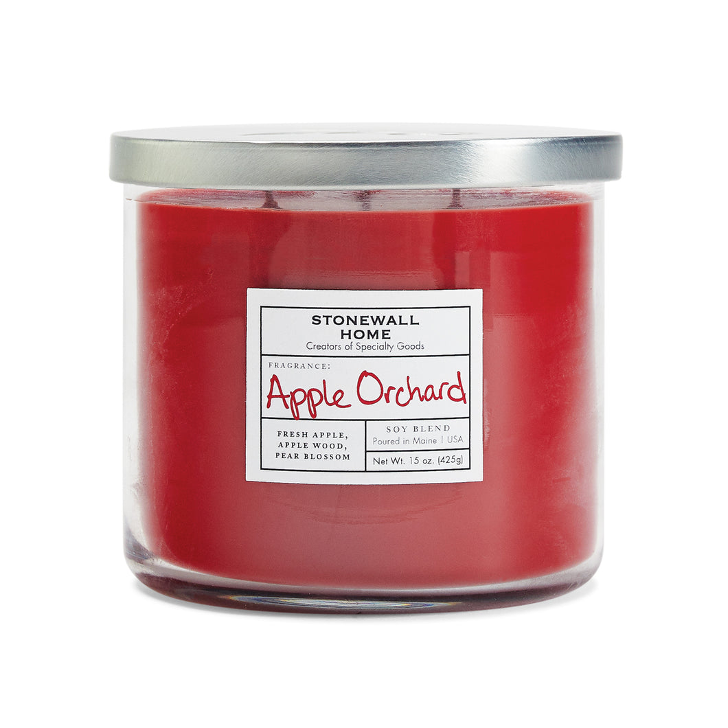 Stonewall Home Apple Orchard Candle 15 oz  3 Wick Bowl