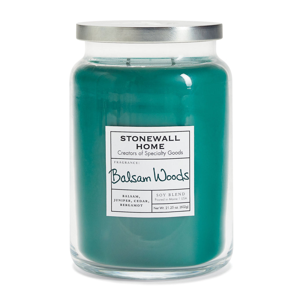 Stonewall Home Balsam Woods Candle 21oz Jar