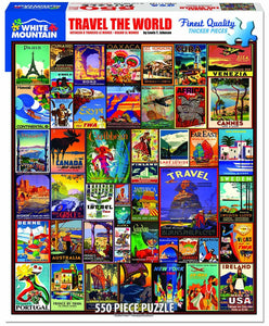 Travel  the World 550 pc puzzle by White Mountain