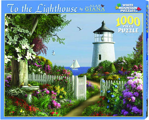 To The Lighthouse  1000 Piece  Puzzle by White Mountain Puzzle Co