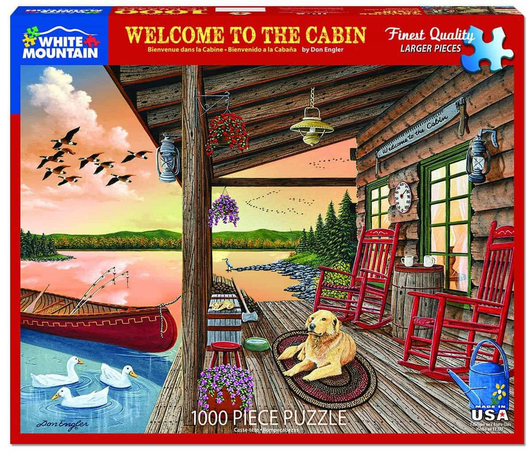 Welcome to the Cabin 1000 pc Puzzle by White Mountain Puzzle Co