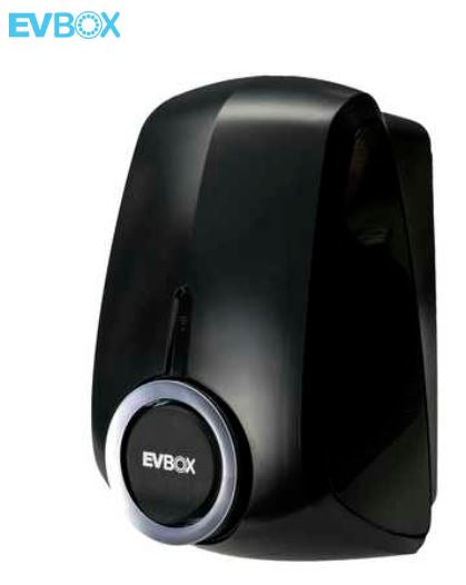 EVBOX Elvi Charging Station Black 7.4kW to 22kW WiFi + kWh meter + UMTS (4G)