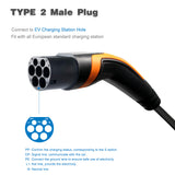 Type 2 to Type 2, Premium 3 Phase, Faster EV Charging Cable, 32A, 22KW, 3 Metre