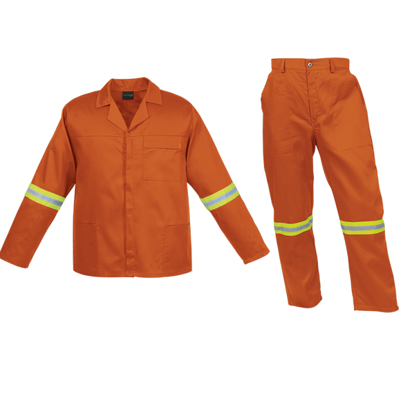 EO0382 Budget Poly Cotton Conti-Suit with Reflective