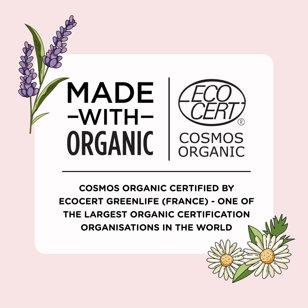 Certified organic baby soap + oil combo