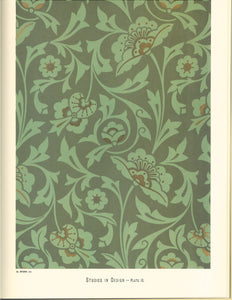 "Source image for this floorcloth pattern, from Christopher Dresser's ""Studies in Design"" C. 1875."